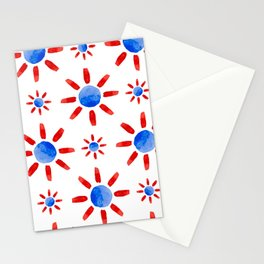 Watercolor ethnical ornament Stationery Cards