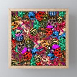 Men and Mutants Color Framed Mini Art Print