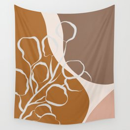 Organic Shapes & Plants Wall Tapestry