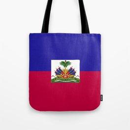 Haiti flag emblem Tote Bag