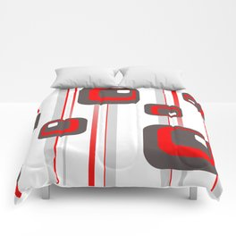 Vintage Retro Graphic white Comforters