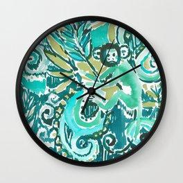 MONKEY TRICKSTER - JADE Wall Clock