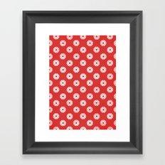 Poker Dots Framed Art Print