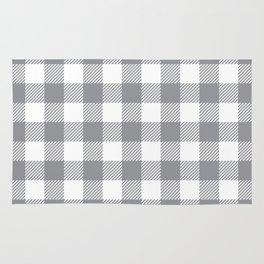 Buffalo Plaid - Grey & White Rug
