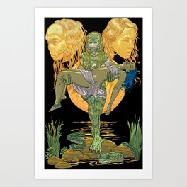 She Creature from the Black Lagoon Art Print