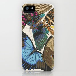 Art Deco Butterfly Print by E.A. Seguy, 1925 #7 iPhone Case