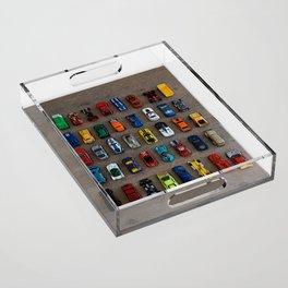 1980's Toy Cars Acrylic Tray