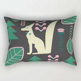 Traditional Christmas festival with fox Rectangular Pillow