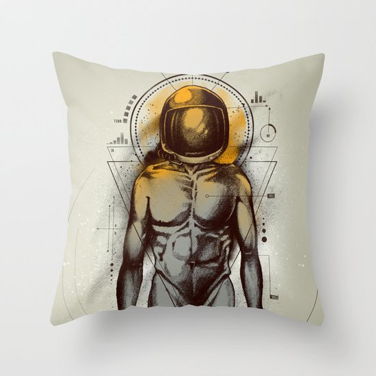 Naked Space Throw Pillow