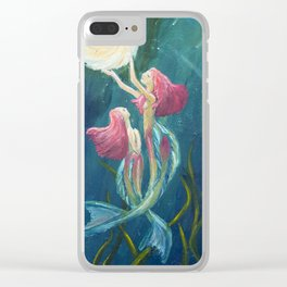 Mermaids Clear iPhone Case