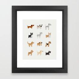 Lots of Cute Doggos Framed Art Print