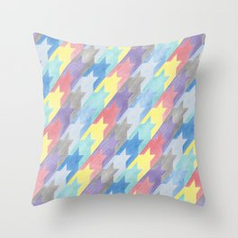 Multicoloured Houndstooth Throw Pillow