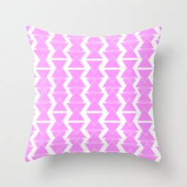 RIGHT AND WRONG II: PINK AGAIN Throw Pillow