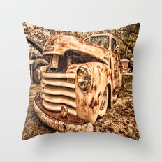 Old pickup ( Photo by Antal Ullmann ) Throw Pillow