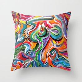 Evolving Throw Pillow