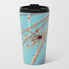 Queen Anne's Lace in Blue Metal Travel Mug
