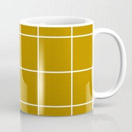 Mustard Grid Coffee Mug