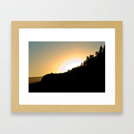 Crown Point Sunrise Framed Art Print