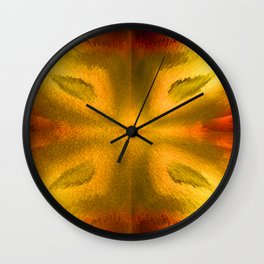 Agate Dreams in Saturation Wall Clock