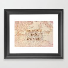 travel the world Framed Art Print