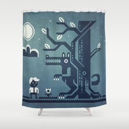 Midnight Menace Shower Curtain
