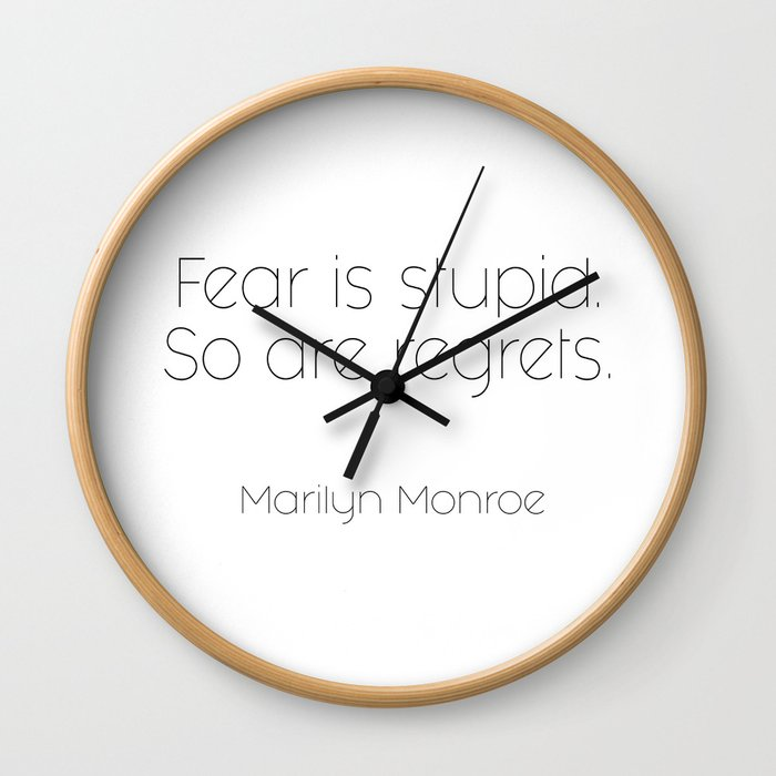 As told by Marilyn #2 Wall Clock