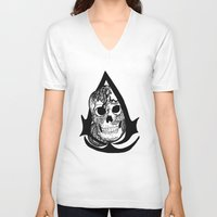 assassins creed V-neck T-shirts featuring assassins creed logo by  Steve Wade ( Swade)