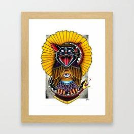 Cat Owl Framed Art Print
