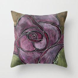 Twinkling Rose Throw Pillow