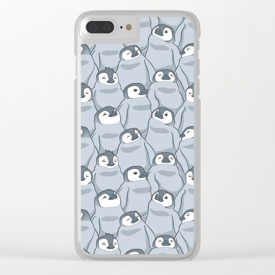Baby Penguins Clear iPhone Case