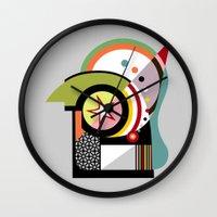 bauhaus Wall Clocks featuring Bauhaus II by Lanre Studio