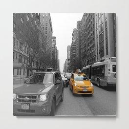 NY´s cab Metal Print