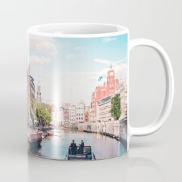 Colorful Amsterdam Canals | Europe Travel City Urban Landscape Photography Coffee Mug