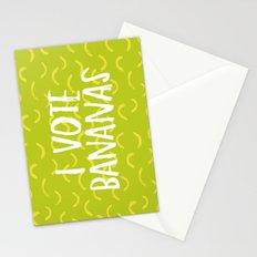 I Vote Bananas Stationery Cards