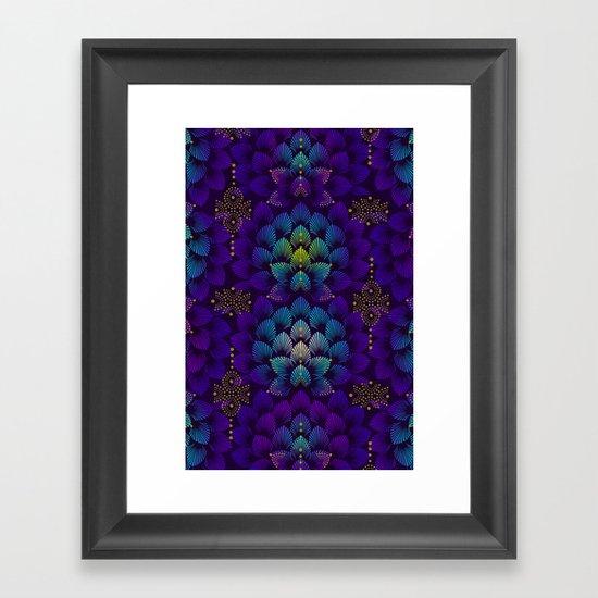Variations on A Feather IV - Stars Aligned Framed Art Print