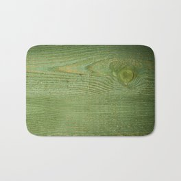 Green toned board texture abstract Bath Mat