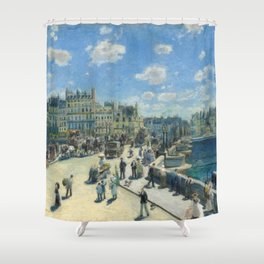 Pont Neuf Paris Painting by Auguste Renoir Shower Curtain