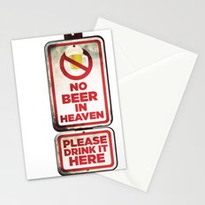No Beer in Heaven Stationery Cards