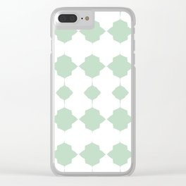 Minty_Geo_Love_ Clear iPhone Case
