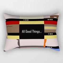 TNG - All Good Things - Minimalist Star Trek TNG The Next Generation 1701 D  startrek  Trektangles Rectangular Pillow