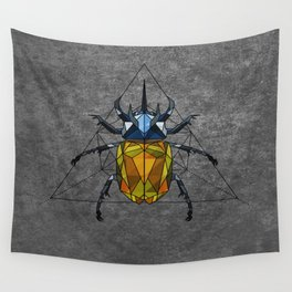 Geo Beetle  Wall Tapestry