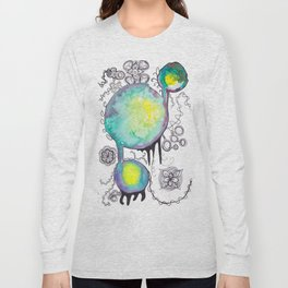 Childhood Series: Watercolor and Pen Circles and Designs Long Sleeve T-shirt