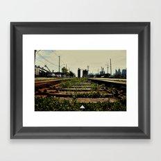 Right Side Of The Tracks Framed Art Print