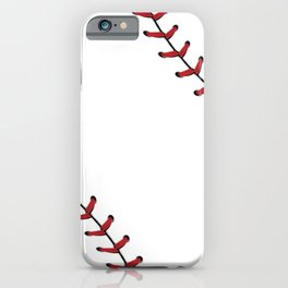 Softball Baseball design red laces iPhone Case