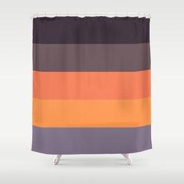 Autumn stripes Shower Curtain