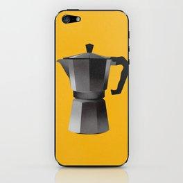 Classic Bialetti Coffee Maker Yellow iPhone Skin