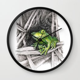 Frog - Just Hangin' Out Wall Clock