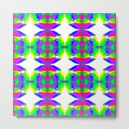 Technicolour Starburst 9 Metal Print