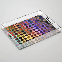 MELANGE of VIOLET and RUST Acrylic Tray