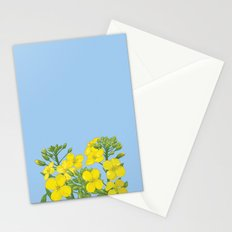 Summer flower in yellow Stationery Cards